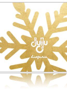 Gift Card snowflake white